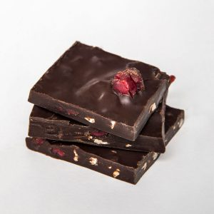 72% Cocoa Bark with Cranberries & Almonds