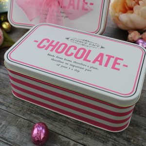 Striped Chocolate Tin
