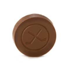 Milk Chocolate Hockey Puck